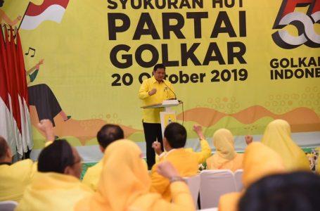 Airlangga Hartarto Instruksikan Kader Golkar Kawal 5 Program Utama Jokowi