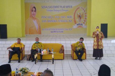 Hj. Itje Siti Dewi kuraesin, DPR RI Fraksi Golkar Sosialisasi Empat Pilar Di Subang