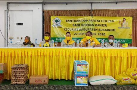 Golkar Serahkan Bantuan Korban Banjir Bandang Sukabumi