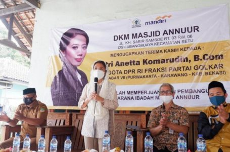 Puteri Komarudin Makmurkan Rumah Ibadah Lewat Pembangunan Masjid