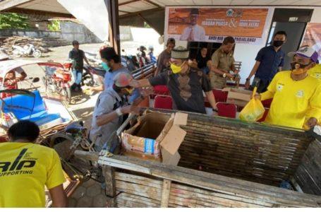 Kunjungan Dapil, Andi Rio Padjalangi Bagi 2000 Paket Sembako ke Kaum Dhuafa Hingga Disabilitas