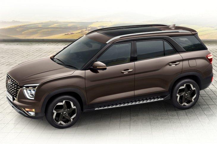 Tampilan Hyundai Alcazar, pesaing Tata Safari & MG Hector Plus